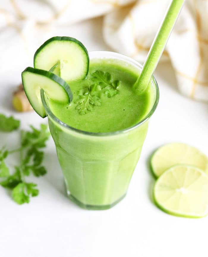 The Cleanse Green Cucumber Detox Smoothie Recipe