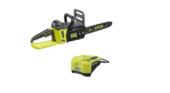 Ryobi ZRRY40511 40V Cordless Brushless Lithium-Ion 14 in. Chainsaw